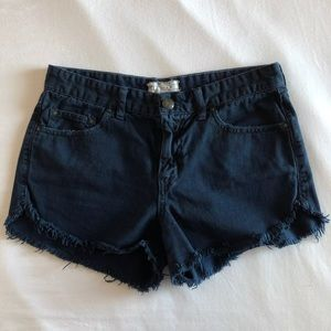 FREE PEOPLE Dolphin Shorts in Navy